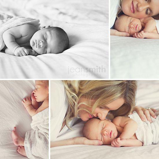 Cute newborn ideas here
