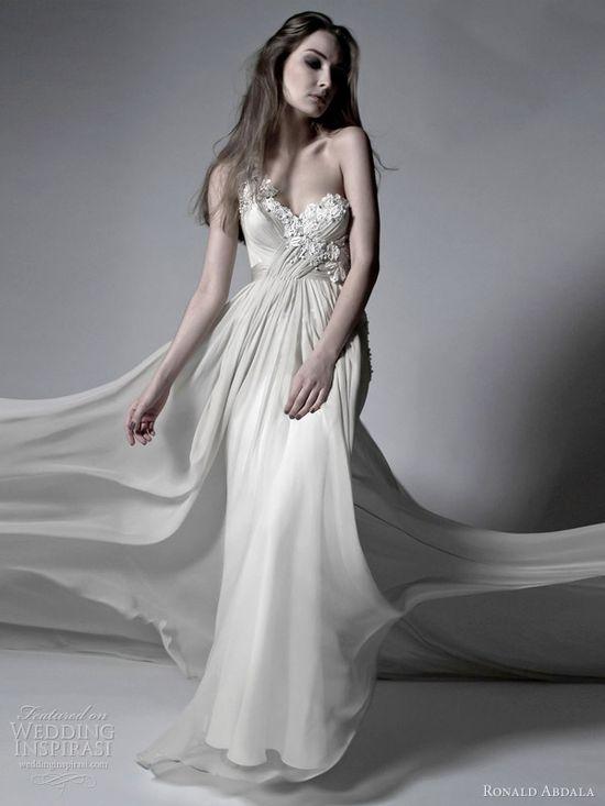 ronald abdala bridal spring 2012 grecian draped one shoulder wedding dress, wedding dress, wedding gown, bridal gown, bridal dress, wedding, haute couture