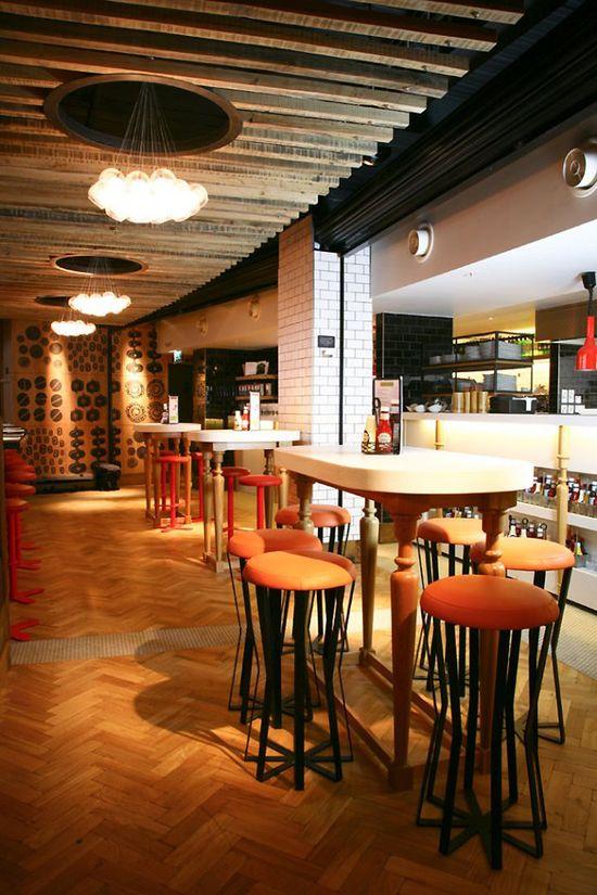 Giraffe bar & grill. Restaurant interior design  by Harrison
