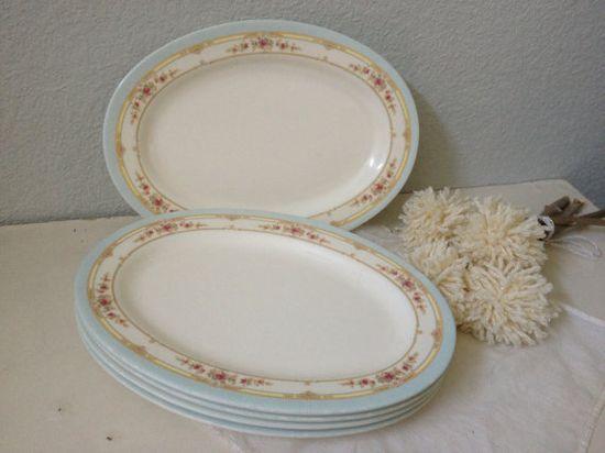 Melamine Shabby Chic Plates  Shabby Chic by VintageMarketPlace, $26.00