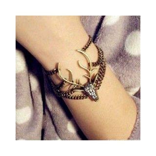 Vintage Styled Deer Bracelet