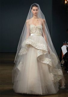 Wedding dress, beautiful veil