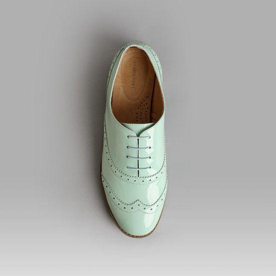 Mint Oxford shoes-