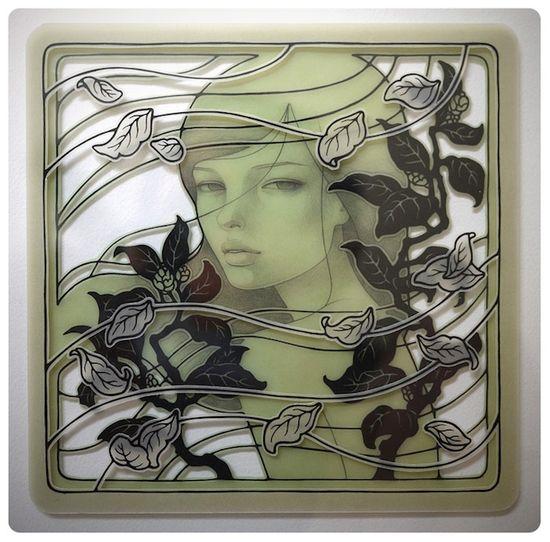Audrey Kawasaki's Gorgeous New Layered Vellum Works
