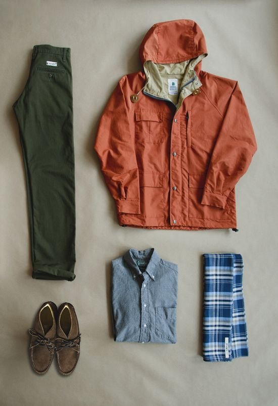 outfitting/orange/green