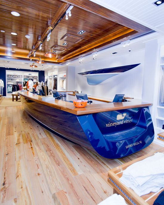 Yacht reception desk  Creative and interesting idea   Design and Specify, office design, Leeds, Yorkshire,