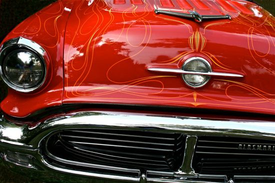 Fine Art Automotive Photography Red Car Vintage by sherilwright