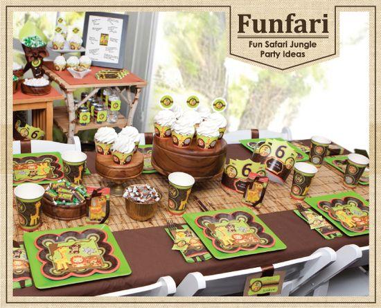 Funfari - Fun Safari Jungle Birthday Party Ideas #BigDot #HappyDot