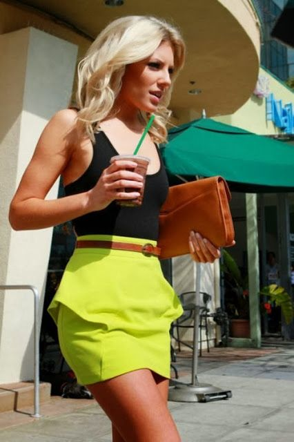 Amazing yellow skirt fashion for summer visitors