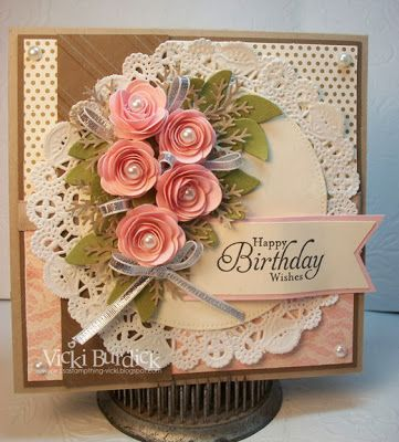 Gorgeous #SU Birthday card - love these little roses!
