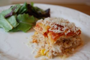 Chicken Enchiladas (eat one casserole and freeze the other!)