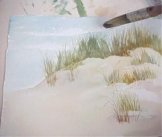 #Painting #Nature: Sand and Beach Grass in #Watercolor #Tutorial