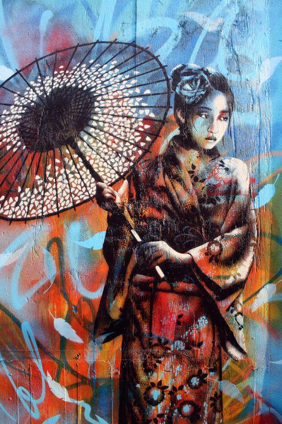 ?? Geisha graffiti