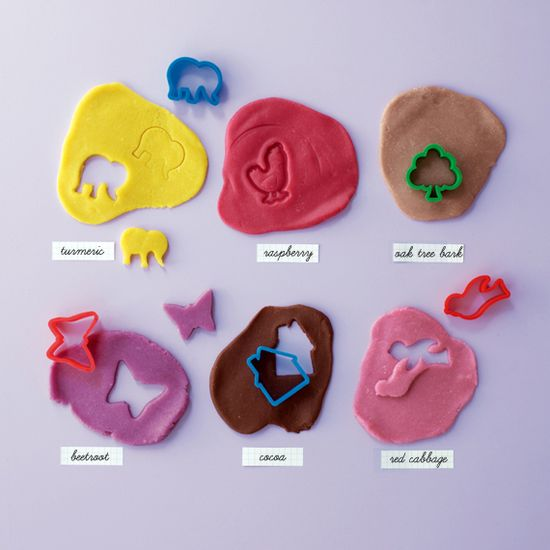 From my book. Naturally dyed playdough *^_^*