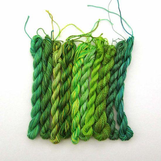 green green green green green! #etsy #crafts #thread