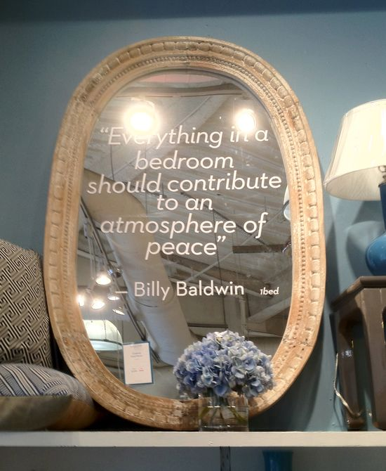 """Everything in a bedroom should contribute to peace."" Billy Baldwin, interior designer"