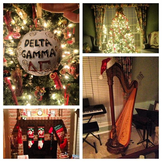 Delta Gamma Christmas decorations