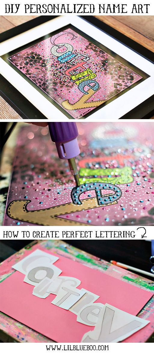 How to Make Personalized Name Art (with Animal Print Download) via <a href='http://lilblueboo.com' target='_blank' rel='nofollow'>lilblueboo.com</a> #silhouette #diy #tutorial #baby