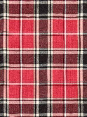 Schumacher Fabric Alexander Tartan-Rouge $112.25 per yard #interiors #decor #plaidfabric