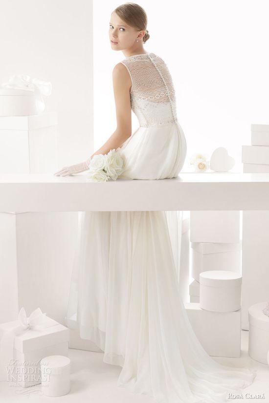 rosa clara 2014 celta sleeveless beaded bodice wedding dress