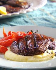 Grilled Portobello Mushroom Steaks recipe - cook on outdoor or indoor grill