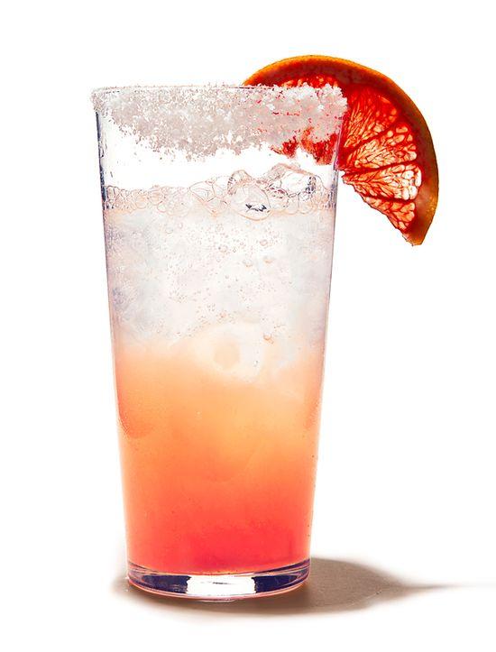 Paloma...grapefruit juice, lime juice, tequila, club soda..