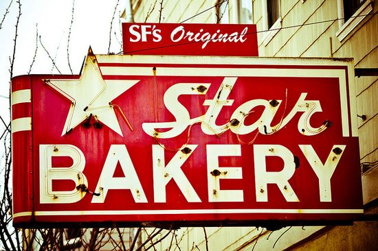 The old Star Bakery, no bakery but the sign still remains...