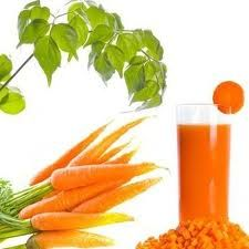 8 ounces of carrot juice can contain as much as 800% of your daily recommended dosage of vitamin A. Vitamin A is essential and necessary for tissue growth, especially within the bones. Vitamin A is also very important in maintaining good vision. The old myth that eating carrots will help you see better is true, as vitamin A deficiencies can lead to vision problems such as night blindness.