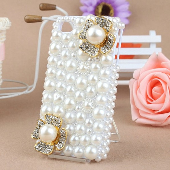 iPhone 4 Case Pearl iPhone case Bling iPhone 4s Case by joshkno, $15.00
