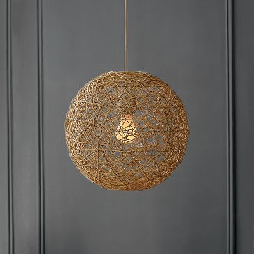 I want to try a DIY version with twine and elmer's glue.. Will see how it turns out. Would like to hang a couple of these in the living room