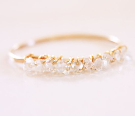 Birthstone 14k Gold Stacking Ring Aquamarine March on Etsy, $28.00