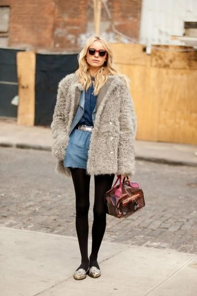 Big coats // tights and shorts