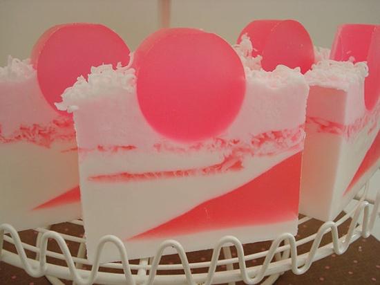 Coconut Bubble Gum Glycerin Soap #soap #handmade