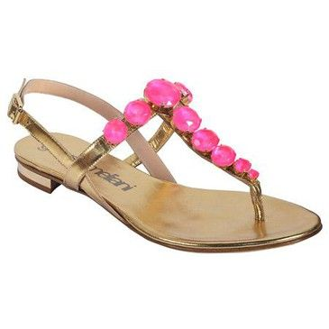 Gianna Meliani Jeweled Sandals ...giannameliani