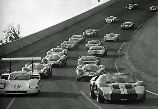 Pace lap for the 1967 Daytona 24 Hour race