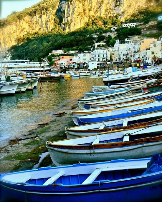 Nautical Home Decor - Capri Italy Photography - Boats of Capri - Beach Photograph - Ocean Art - Coastal Print - Wall Art - Italian Gifts