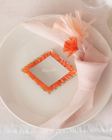 fringed place settings and details for interest #wedding
