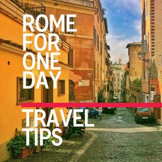 Traveling to Rome for just one day? Check out my travel tips for @DETAILS