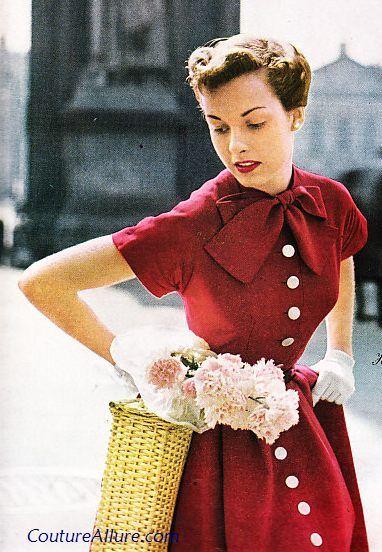 Cute red dress vintage