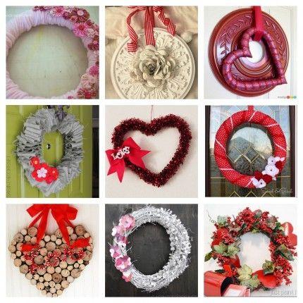 9 Valentine Wreath Crafts
