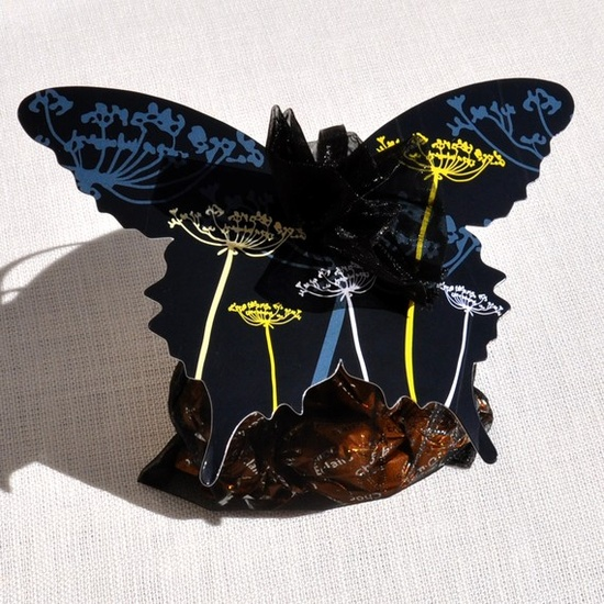 butterfly gift tag  by venerate etsy shop