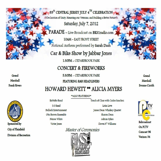 Celebrate and honor our nation's heroes -- July 7 -- Plainfield, NJ. Parade, Concert, Car Show, BBQ & Fireworks!