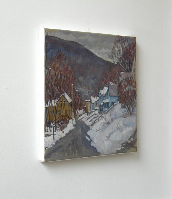 Oil Painting Landscape, Towards Vermont, Winter Snow. Original Oil on Canvas, American Impressionist Painting. $390.00, via Etsy.    ...BTW,Please Check this out:  artcaffeine.imobi...