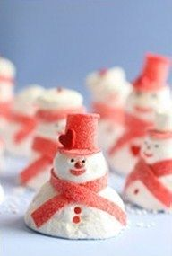 Snowmen...from pantry staples! Hooray! Easy and delicious!