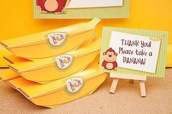 Banana Favor Box - Printable