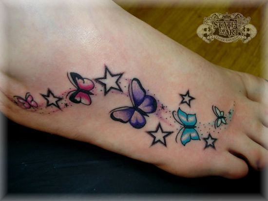 Butterflies and stars I want it in the same area