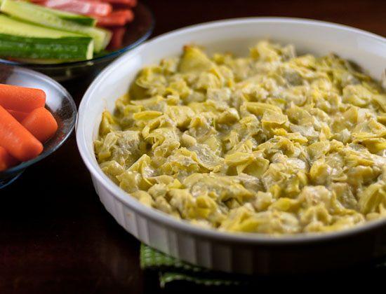 Healthier Hot Artichoke and Garlic Dip