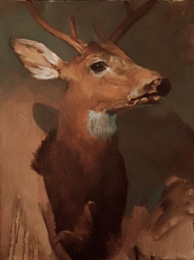 "Saatchi Online Artist Michael Foulkrod; Painting, ""deer"" #art"