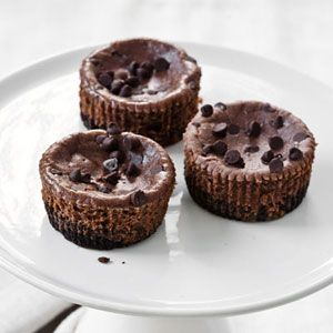 mini chocolate hazelnut cheesecakes