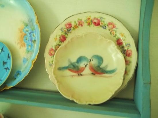 Adorable blue bird plate.